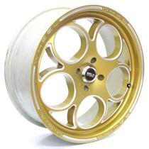 Roda Krmai C10 Aro 17x7 Dourada Diamantada 4x100 ET 37 -