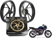 Roda Magna Preta Honda Cg Titan 150 160 Esd Pé De Galinha Par Ano 2014 Até 2021 - Maxx