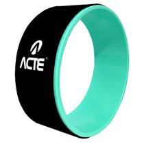 Roda Para Exercícios Magic Wheel Yoga E Pilates Preto E Verde Acte -