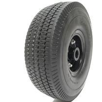 Roda pneu maciço 3.50-4 aro 4 carrinho de carga 4 lona liso - Ponto Do Borracheiro