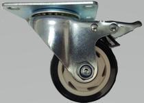 Roda/Rodizio Giratória com Trava - 3 Polegadas - 8cm Idea -