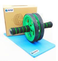 Roda Rolinho Exercícios Abdominal Musculação Com Mini Tapete - Katatop