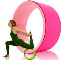 Roda Yoga Anel Magico Pilates Circulo Treino Rosa - Vollo