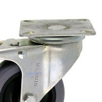 Rodízio com placa giratória com trava 3 plg - Starfer