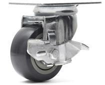 Rodizio giratório freio termoplástica roda c/ rolamento 3 - Ajax
