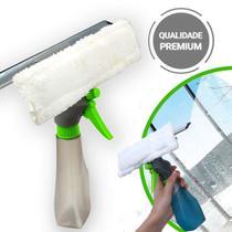 Rodo 3 em 1 Multifuncional com Borrifador Spray Limpa e Seca Vidros e Janelas - Clink