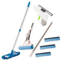 Rodo Mágico C/ 3 Refil ,Limpa Vidros Spray, Vassoura Tira Pó - VendasShop Utensilios de Limpeza