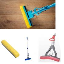 Rodo magico limpeza geral mop cabo retratil esfregao absorve, limpa e seca vassoura - Makeda