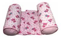 Rolinho Segura Bebê no Berço Soninho Seguro Menina Ursinha Rosa - Casa Pedro