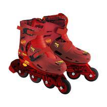 Roller Infantil Carros com kit esportivo Tamanho 33 a 36 DTC -