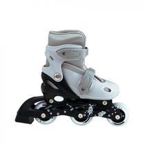 Roller Infantil Cor Cinza Regulavel do 30 Ao 33  Mor -