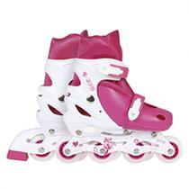 Roller Infantil Cor Rosa Regulavel do 34 Ao 37  Mor -