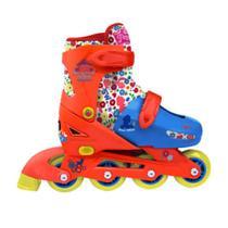 Roller Infantil Princesa com kit esportivo Tamanho 29 a 32 DTC -