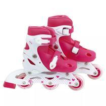 Roller Infantil Tamanho P (31 ao 34) Regulável Mor - Rosa. - Met. mor