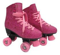 Roller Patins Infantil Feminino 4 Rodas Quad Menina - Dm Toys