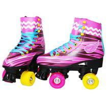 Roller Patins Infantil Sou Luna Tam 32 Rosa Menina Importway - Import way
