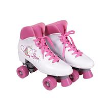 Roller Patins Unicórnio Quad Love Rosa 35 - Bel sports