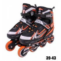 Roller Regulavel do 39 Ao 43 In-line Aluminum 500 Abec 9 Alaranjado  Bel -