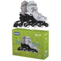 Roller Row Infantil Cinza M Regulável Tam. 34 a 37 Mor -