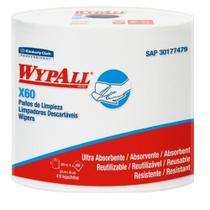 Rolo  Branco c/ 416 Panos Descartáveis Wiper WypAll X60 - Kimberly Clark