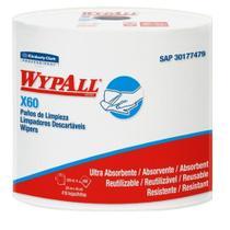 Rolo  Branco com 416 Panos Descartáveis Reutilizáveis WypAll X60 Kimberly Clark -