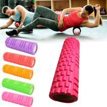 Rolo de massagem 59cm rosa - Shopud