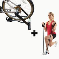 Rolo de treino + Extensor para exercicio 5mm Rolo 100Kg Transforma Em Bicicleta Ergométrica - Metal Lini