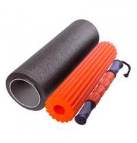 Rolo de yoga - 46,5 x 15 cm - 3 em 1 - liveup sports -