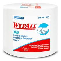 Rolo Jumbo Roll com 890 Panos Descartáveis Wipers WypAll X60 Kimberly Clark -