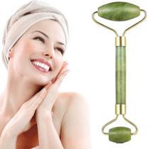 Rolo Massageador Pedra Jade de Rosto Lifting Rolinho Verde - Meiustar