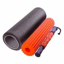 Rolo Para Pilates Yoga Liveup Ls3765 Foam Roller 3 Em 1 - Liveup sports