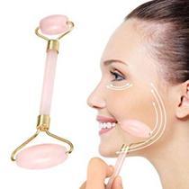 Rolo Pedra Quartzo Rosa Massagem Facial Anti Ruga Gua Sha - AMVSHOP7