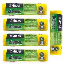 Rolo Resimax 23cm Pintura Tinta Epoxi e Esmalte Atlas - 5 Unidades -