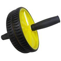 Rolo Roda Abdominal Exercicio Fisico Abdomem Musculo Amarelo (BSL-JS002) - Braslu