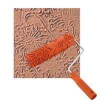 Rolo Textura Roma Borracha Floral 18cm Com Cabo   8 0318 -
