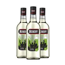 Roskoff vodka colorida limão - combo 3 unidades -