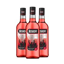 Roskoff vodka colorida morango com limão - combo 3 unidades -