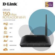 Roteador D-Link Dir-610 Wirelles 150 Mbps 2.4 GB  C/5D -