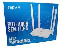 Roteador sem fio wifi amplo alcance bivolt wireless 4 portas - Inova