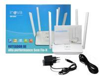 Roteador Wi Fi Alta Performance Com 4 Antenas Inova ROU-6004 (Cor Branco) -