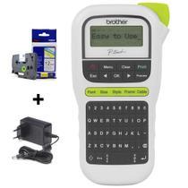 Rotulador Eletrônico Brother Pt-h110 C/ 1 fita + Fonte -