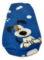 Roupa Capa Soft Para Cachorro Azul Estampada Tamanho M - Nica Pet
