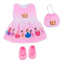 Roupa de Boneca Baby Alive - Kit Princesas - Laço de Fita -