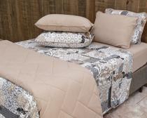 dffa5e8708 Roupa de cama jogo borboletas chocolate - Pertutty soft