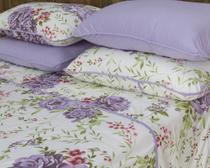 bd00d7dafd Roupa de cama jogo flores lilás - Pertutty soft