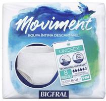 Roupa Íntima Descartável Bigfral Moviment (Tam. P/M - C/ 8 Unds. ) Unissex - Bigfral -