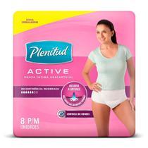 Roupa Intima Plenitud Active Mulher P/M - 8 Unidades -