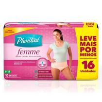 Roupa Intima Plenitud Femme P/M 16 Unidades -