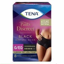 Roupa Íntima Tena Pants Discreet Black - 8 unidades -