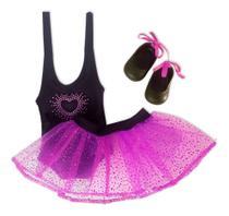 Roupa Para Boneca Baby Alive - Bailarina Pink - Laço de Fita -
